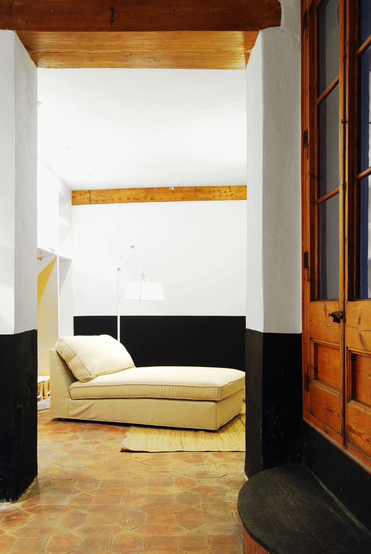 Vista de la sala de estar del Estudio en Cirera