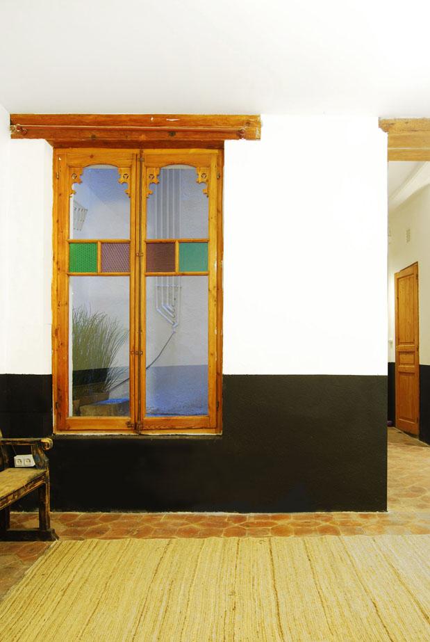 Detalle de la ventana de la sara de estar