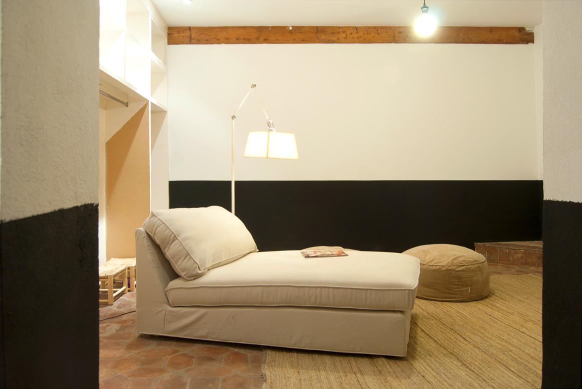 Sala de estar y canapé